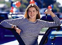female new car shopping